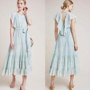 Anthropologie Love Sam Amia Embroidered Midi Dress